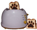 Paw Print Toaster by www.burntimpressions.com