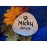 An engraved stone from Rock-It Creations