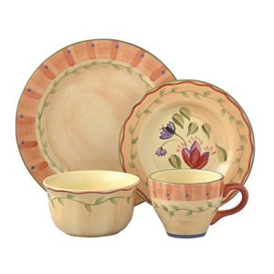 Large Collection of Pfaltzgraff Napoli Dinnerware. Donated by Mary Erlandson