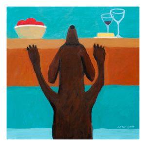 """""""Out of Reach"""" Original print by Nancy Schutt"""