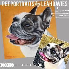 Custom pet portrait by Leah Davies