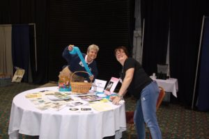 Laurie & Colleen selling raffle tickets