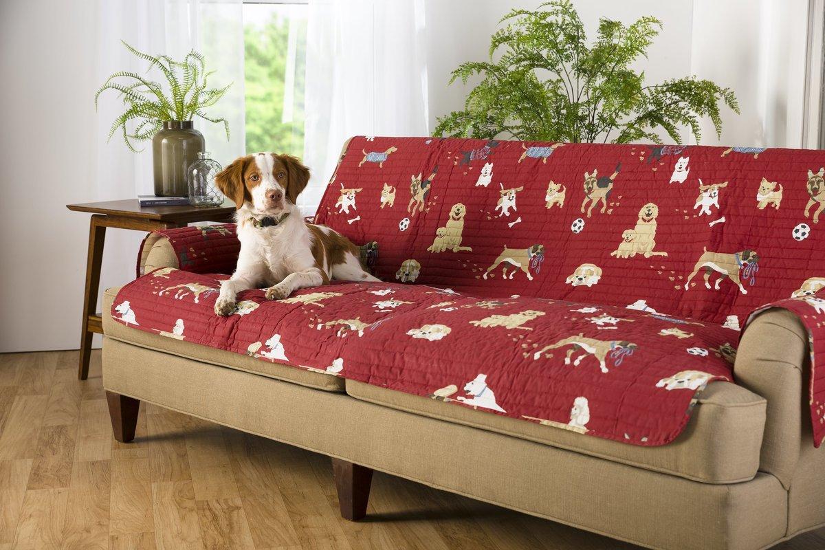 Dog Park Box Cushion Sofa SlipcoverAuctionItem