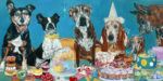 The Last Dessert Evelyn McCorristin Peters oil on gallery wrapped canvas 36X72""